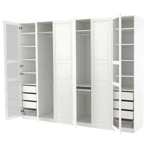 armoire pax ikea pax wardrobe white tyssedal tyssedal glass 300x60x236 cm