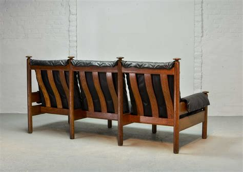 sturdy couches sturdy mid century smooth black leather scandinavian 3