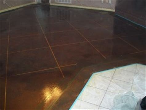 DIY Concrete Stained flooring   A Thrifty Mom   Recipes