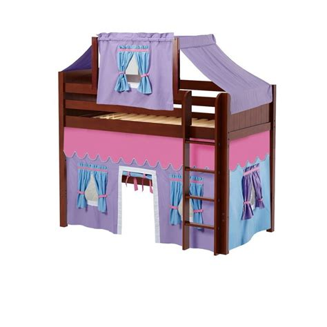 mid loft bed maxtrixkids bingo27 cp mid loft bed med low bed ends