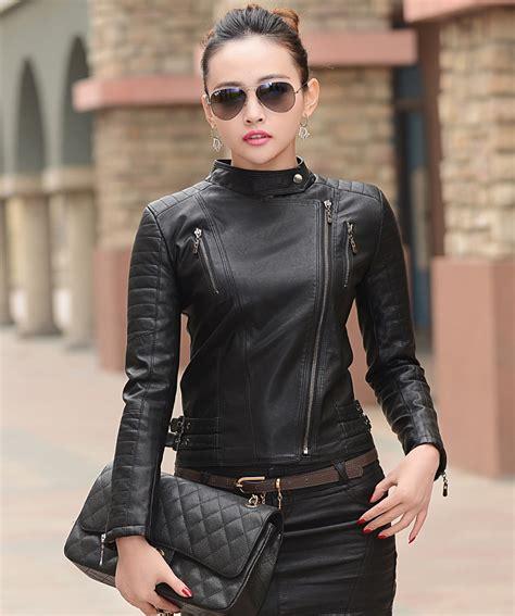 chaqueton de cuero chaquetas en piel mujer chaquetas de moda para la