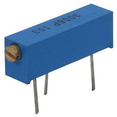 resistors jameco 3006p 1 104vp jameco valuepro 100k ohm 3 4 watt 15 turn cermet potentiometer passive components
