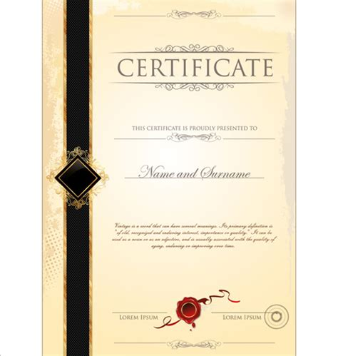 certificate designs templates cover of certificate design template vector 04 vector