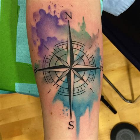 tattoo compass on forearm 11 watercolor tattoos on forearm
