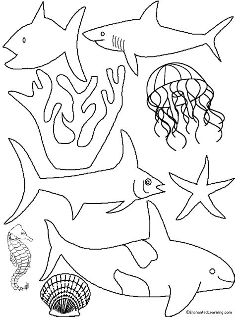 free printable ocean diorama template its a party pinterest shark dioramas and