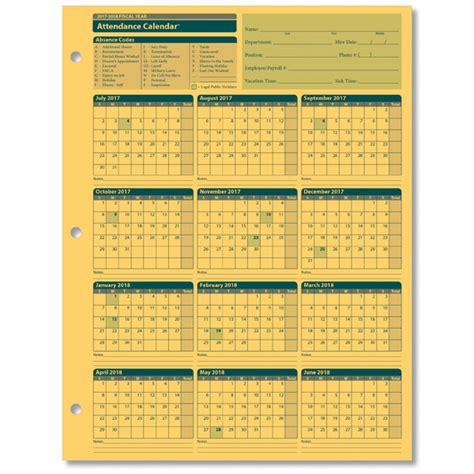 printable 2018 employee attendance pdf 2018 calendar template