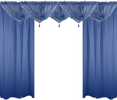 navy voile curtains navy blue 9 piece voile set rod pocket curtains drapes