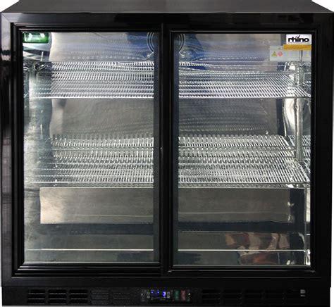 Bar Fridge Glass Door Sliding 2 Glass Door Commercial Back Bar Bar Fridge Energy Saving With Lg Compressor