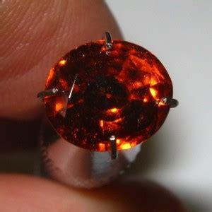 batu permata hessonite garnet 2 03 carat oval memo igl asia