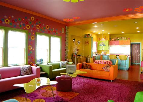 colorful interior modern hippies colorful interior paint design home design picture