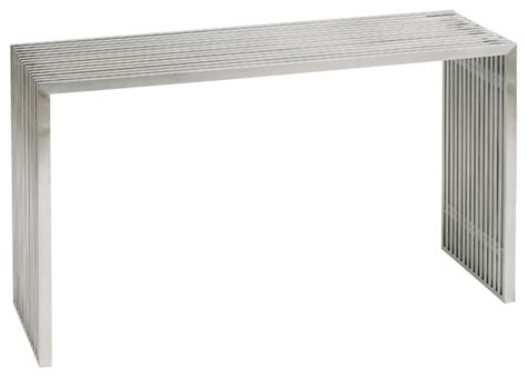 Stainless Steel Sofa Table Amici Console Sofa Table Stainless Steel By Nuevo