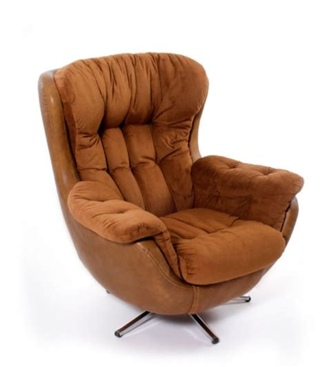 vintage  overstuffed arm chair modernism