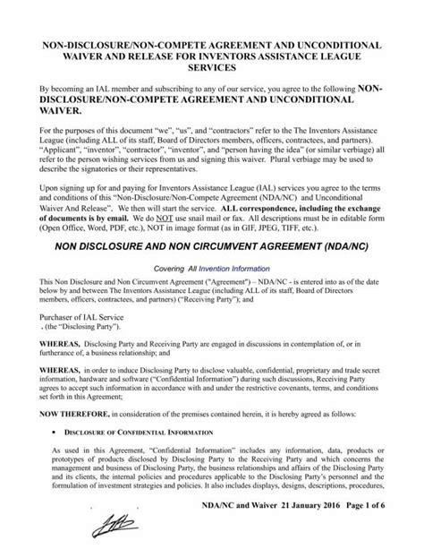 21 Non Disclosure And Non Compete Agreement Template Pdf Word Nda And Non Compete Agreement Template