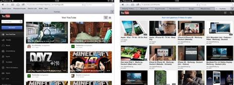 youtube layout changes ipad bereit f 252 r ios 6 youtube auf dem ipad mit neuem design