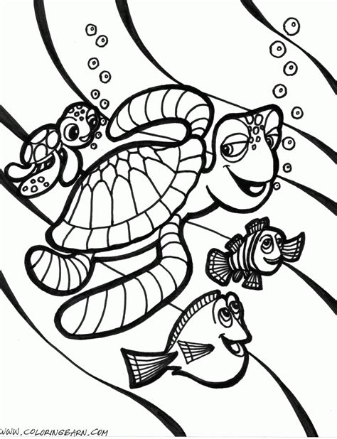nemo sea turtle coloring page pin cartoon fish decals ajilbabcom portal on pinterest