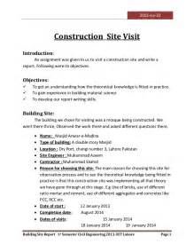 Geotechnical Report Writing by Visit To A Construction Site