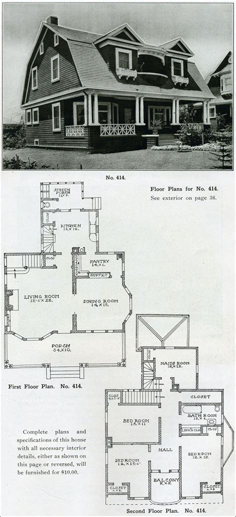 Sears Homes Floor Plans the philosophy of interior design early 1900s part 4