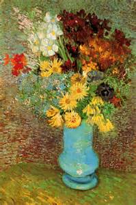 Photos Of Sunflowers In Vases Vase With Daisies And Anemones 1887 Vincent Van Gogh