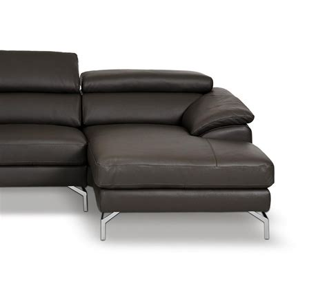 dreamfurniture amafi modern leather grey sectional
