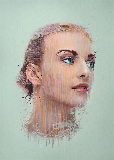 photoshop tutorial watercolor painting effect manipulate a portrait photo to create a splatter paint effect