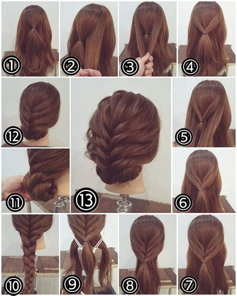 Easy Wedding Hairstyles For Hair Step By Step by Zopf Hochsteckfrisur Lange Haare Braids
