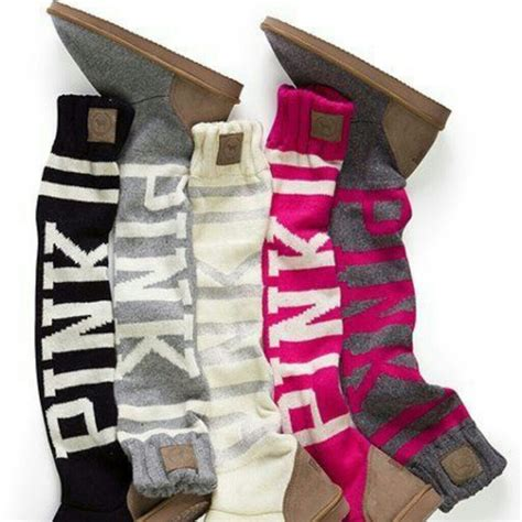 sock boots by pink s secret s secret pink grey