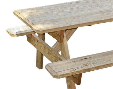 pine picnic bench treated pine picnic table w attached benches