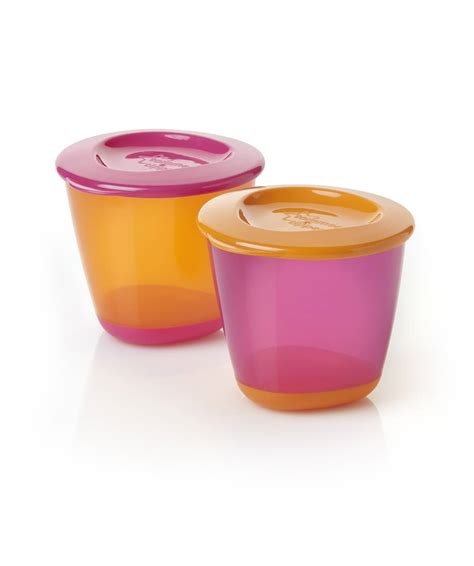 Tommee Tippee 2 Pack Pop Up Weaning Pot Orange T2909 tommee tippee explora pop up weaning pots 2 pack pink