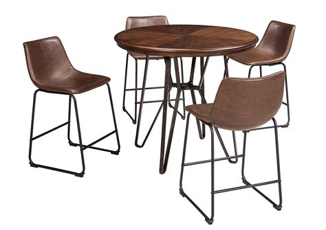 centiar dining room uebinger s furniture co centiar two tone brown round