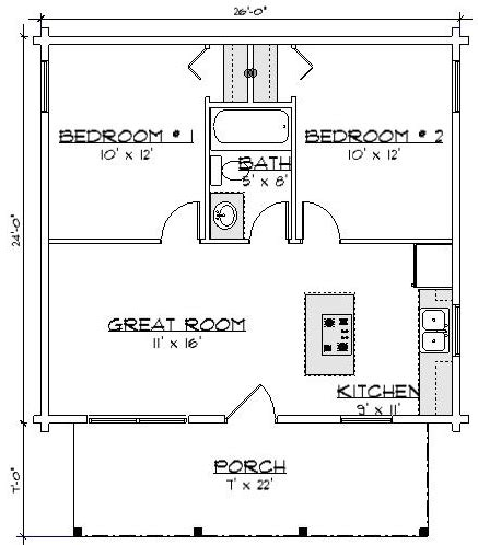 bear den floor plan my home residential the bears den 624 sq ft small log cabins kits