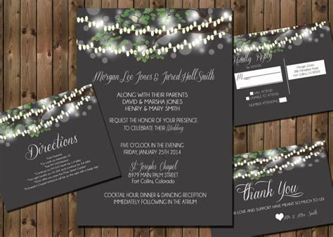 103 best tree themed or jar wedding invitations images on