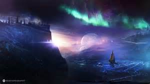 Northern Lights Sb Space Fantasy Wallpaper Set 74 171 Awesome Wallpapers