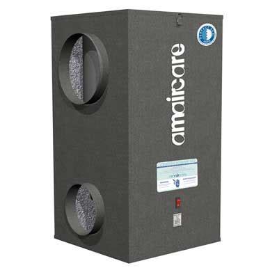 amaircare airwash whisper 350 central air purifier canaduct