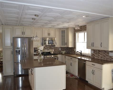Mobile Kitchen Cabinets Mobile Home Kitchen Remodel My Home Improvement Ideas Home Remodeling White