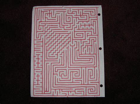 How To Make A Maze On Paper - how to make mazes