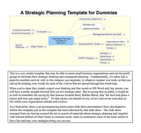 template for strategic planning sle strategic plan template 8 free documents in pdf