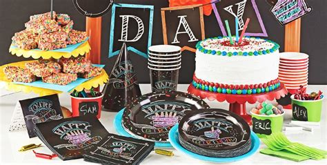 city themed decorations chalkboard birthday supplies chalk