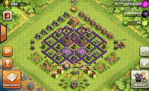 desain gambar coc inilah formasi base town hall 7 terkuat jagat clash of clans