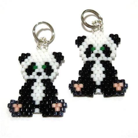 Free Peyote Stitch Beading Patterns   Panda Brick Stitch by Handmade Cuties   Jewelry Pattern