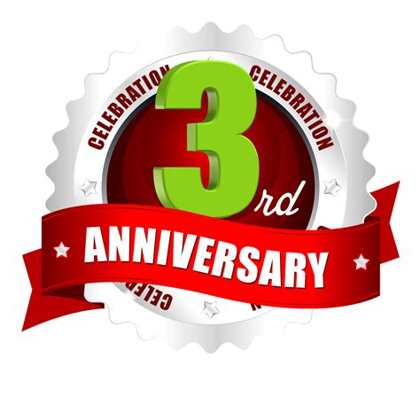 3rd anniversary images 3rd anniversary ping logo free downloads naveengfx