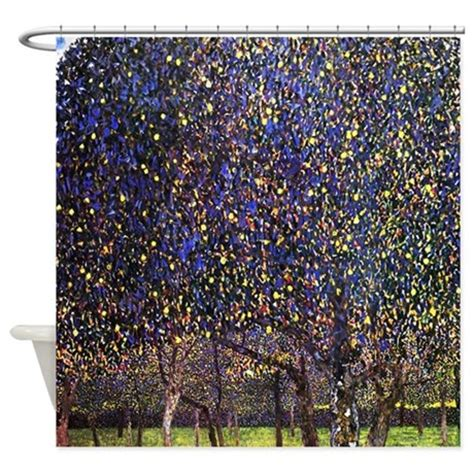 klimt shower curtain gustav klimt pear tree shower curtain by iloveyou1