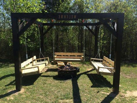 diy pit swing set pit with swing search garden and outdoor spaces swings pergolas
