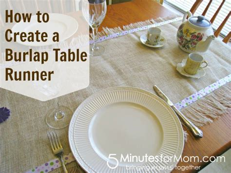 create your own burlap table runner 5 minutes for