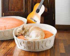 Handmade personalized modern dog beds by naps design dog milk