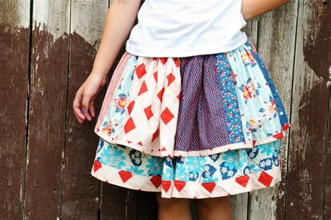 Patchwork Skirt Tutorial - more than 50 beginner sewing projects the polka dot