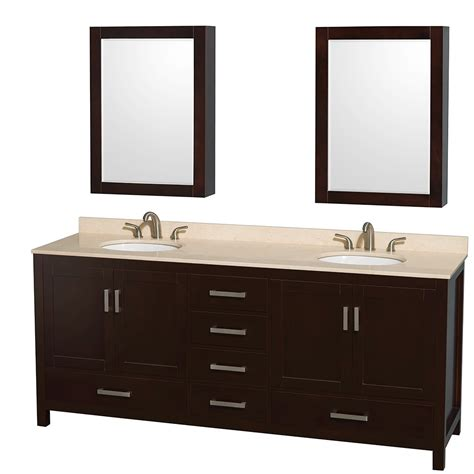 80 Inch Bathroom Vanity Wyndham Wcs141480d Unomed 80 Inch Bathroom Vanity With Oval Sink