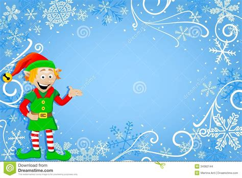 christmas wallpaper elves blue christmas background with elf stock vector image