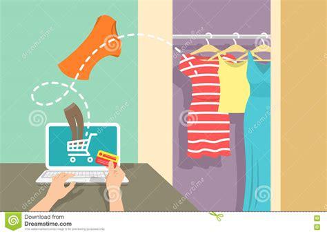 online shopping flat concept background banner vector