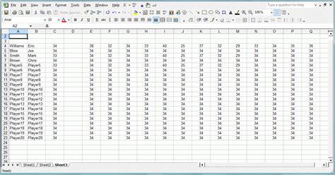 Golf Handicap Spreadsheet by 28 Excel Spreadsheets Help Free Golf Golf Scorecard