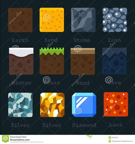 Different Materials by Different Materials And Textures For The Stock Vector